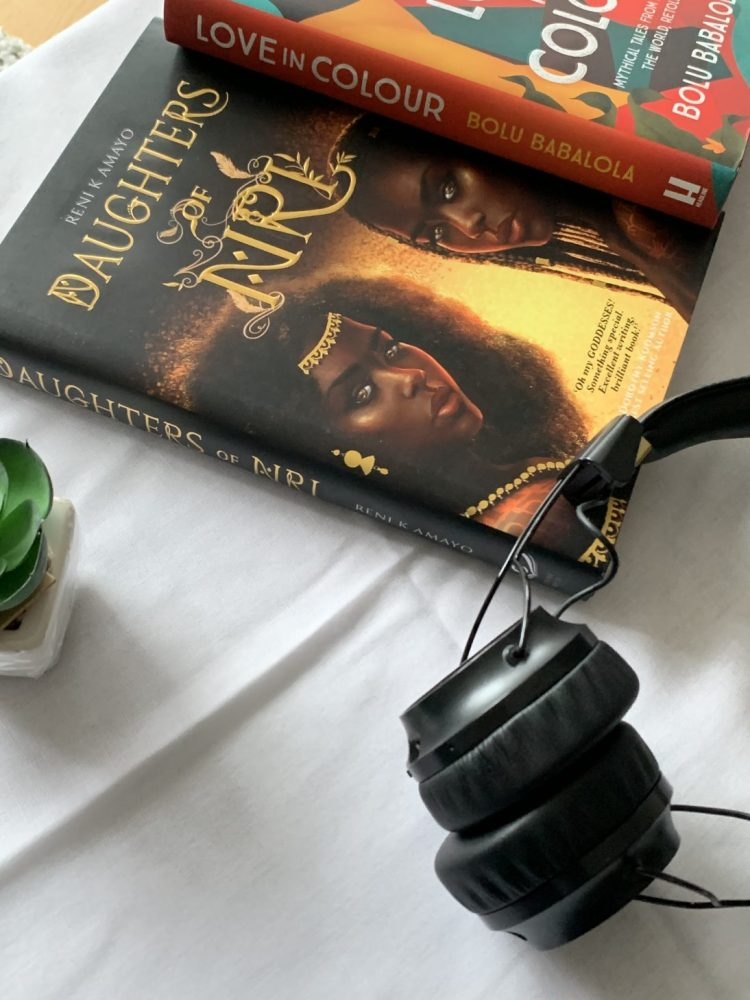 a picture of a two books written by two British-Nigerian authors.